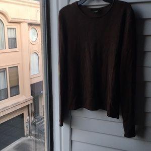 Brown soft silk cashmere Ralph Lauren sweater